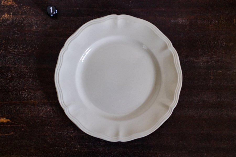 Sarreguemines窯製 花形リム平皿(no.1)