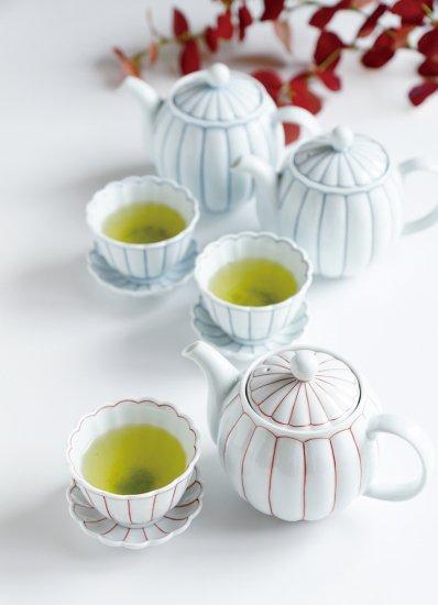 菊割 皿付煎茶碗