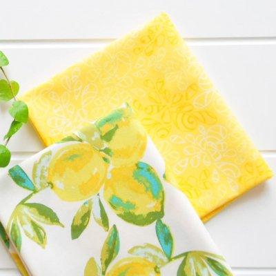 カットクロスセットYuma Lemons Mist黄色2枚組