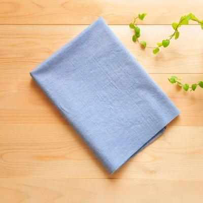 日本製オーガニックコットン100% シングルガーゼ 藍色【1m×生地巾約115cm】