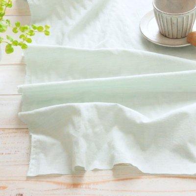 日本製オーガニックコットン100% シングルガーゼ ミントブルー【1m×生地巾約115cm】