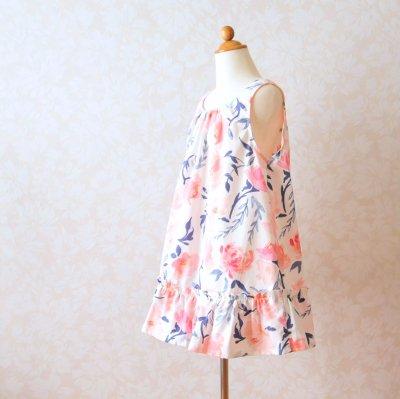 型紙キット 子供服「Let's sewing キュートなギャザーワンピース」型紙と布150cmと付属品のセット