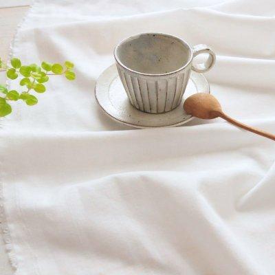 日本製オーガニックコットン100% シングルガーゼ スノーホワイト【1m×生地巾約115cm】