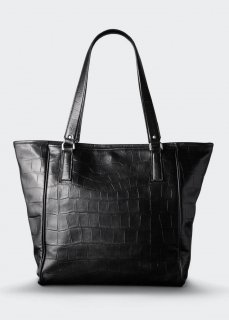 <img class='new_mark_img1' src='//img.shop-pro.jp/img/new/icons47.gif' style='border:none;display:inline;margin:0px;padding:0px;width:auto;' />【aniary】 Double Emboss Leather  tote bag / ブラック