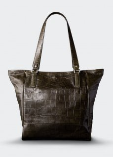 <img class='new_mark_img1' src='https://img.shop-pro.jp/img/new/icons47.gif' style='border:none;display:inline;margin:0px;padding:0px;width:auto;' />【aniary】 Double Emboss Leather  tote bag / カーキ