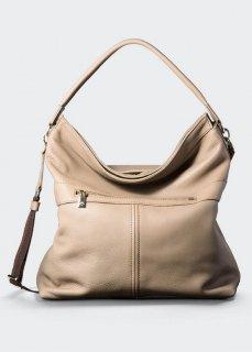 【aniary】 Shrink Leather 2WAY tote bag / グレージュ