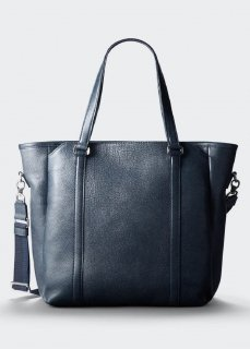 【aniary】 Grind Leather 3way tote bag / ネイビー