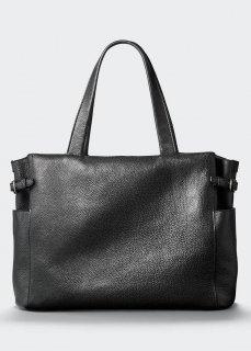 【aniary】 Grind Leather アジャスター付きトートバッグ / ブラック