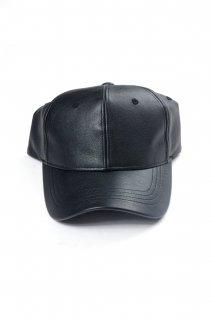 【Fenomeno -フェノメノ-】<br>  imitation leather cap BLK