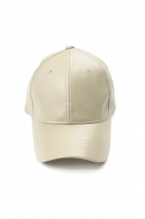 【Fenomeno -フェノメノ-】  imitation leather cap BEG