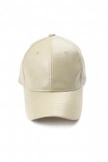 【Fenomeno -フェノメノ-】<br>  imitation leather cap BEG