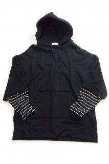 【Fenomeno-フェノメノ-】 fake layered hoodie BLK
