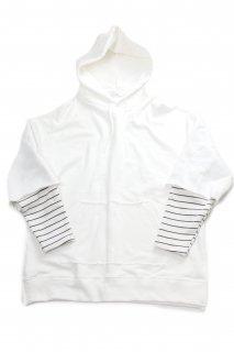 【Fenomeno-フェノメノ-】 fake layered hoodie WHT
