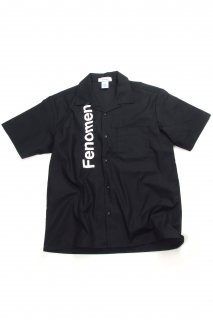 【Fenomeno-フェノメノ】  Open Collar Shirts BLK