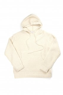 【Fenomeno-フェノメノ】  Rough gauge knit hoodie  BEG