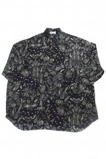 【Fenomeno-フェノメノ】<br> Paisley shirt BLK