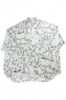 【Fenomeno-フェノメノ】 <br>Paisley shirt WHT
