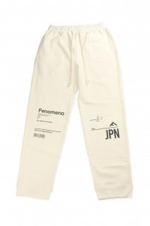 【Fenomeno フェノメノ】</br>JPN Set up sweat pants IVORY