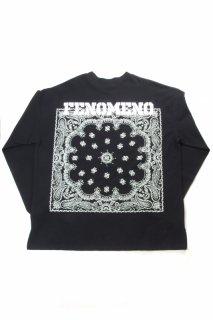 "【Fenomeno-フェノメノ】</br>   ""Bandana"" long sleeve shirt BLK</br>"