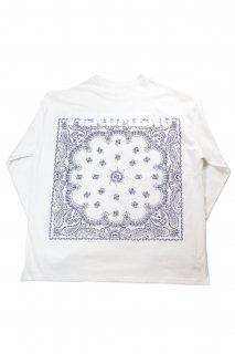 """【Fenomeno-フェノメノ】</br>   """"Bandana"""" long sleeve shirt WHT</br>"""
