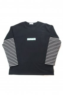 【Fenomeno-フェノメノ】</br>  Layered long sleeve BLK</br>
