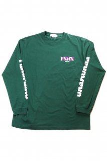 "【Fenomeno-フェノメノ】</br>   ""FNMN"" long sleeve shirt GRN</br>"