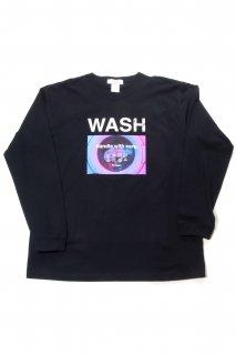"【Fenomeno-フェノメノ】</br>   ""WASH"" long sleeve shirt BLK</br>"