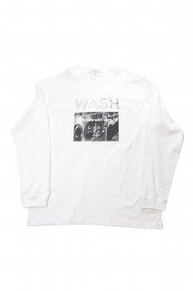 "【Fenomeno-フェノメノ】</br>   ""WASH"" long sleeve shirt WHT</br>"