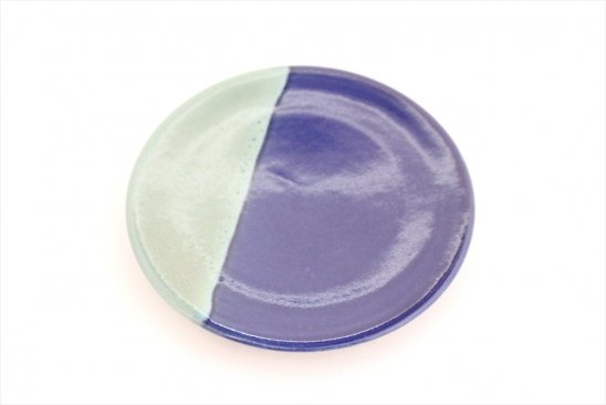 【新着】益子青磁掛け分け小皿