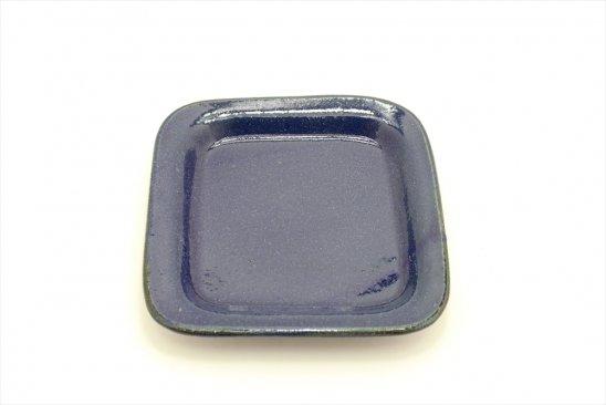 【新着】瑠璃釉正角皿