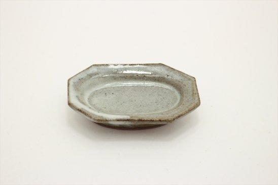 【新着】林檎灰釉オクトゴナル豆皿