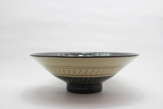 並白釉飛び鉋鉢