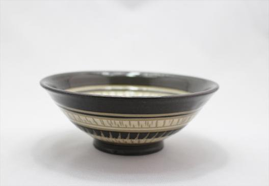 並白釉飛び鉋小鉢