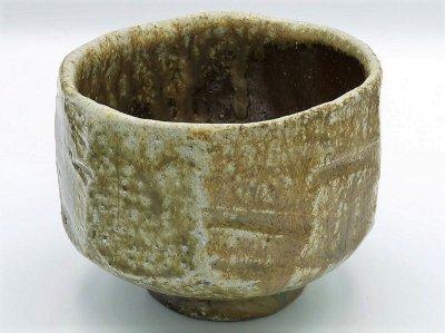 自然釉面取茶碗
