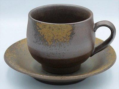 コーヒーカップ(丸形・胡麻焼)