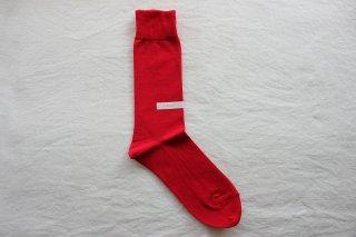 KIMURA` COTTON SOCKS  22-24cm   Scarlet