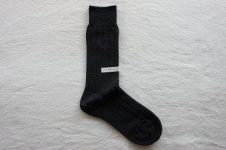 KIMURA`  COTTON RIB SOCKS   22-24cm Dark blue