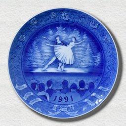 """萌木の村 1991年イヤープレート「清里フィールドバレエ""""白鳥の湖""""」"""