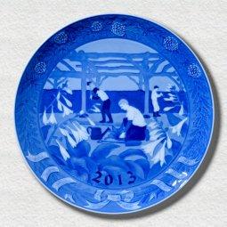 萌木の村 2013年イヤープレート「百年計画(萌木の村の庭造り)」