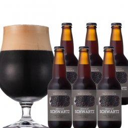 限定醸造:ビターチョコのような濃厚黒ビール「ショコラ・シュバルツ」6本セット