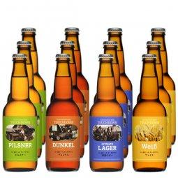 送料無料:クラフトビール「ピルスナー/デュンケル/清里ラガー/ヴァイス」4種12本飲み比べセット