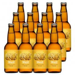 送料無料:小麦麦芽使用のフルーティな白ビール「ヴァイス」12本セット