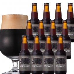 限定醸造:ビターチョコのような濃厚黒ビール「ショコラ・シュバルツ」12本セット
