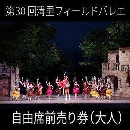 「第30回清里Theフィールドバレエ2019」自由席前売り券(大人)