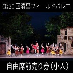 「第30回清里Theフィールドバレエ2019」自由席前売り券(小人)