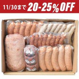 25%OFF!冬のギフト「腸詰屋ソーセージ6種ファミリーセット」