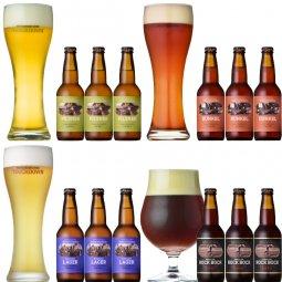 クラフトビール「八ヶ岳ビール タッチダウン」4種12本飲み比べ