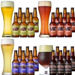 クラフトビール「八ヶ岳ビール タッチダウン」4種24本飲み比べ
