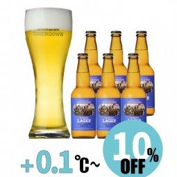 """【10%OFF】抜群のキレで飲みやすさNo.1""""高原ビール""""「清里ラガー」6本セット"""