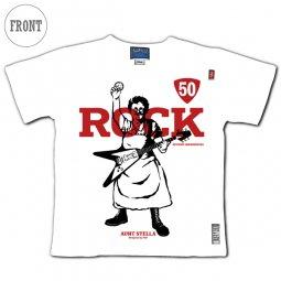 【白】萌木の村ROCK 50th Anniversary オリジナルTシャツ with アントステラ